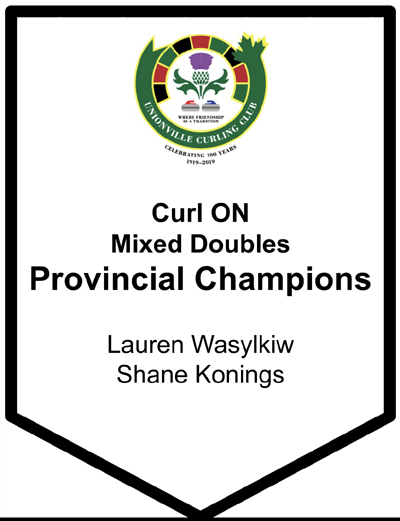 Logo-Mixed Doubles Provincial Champions